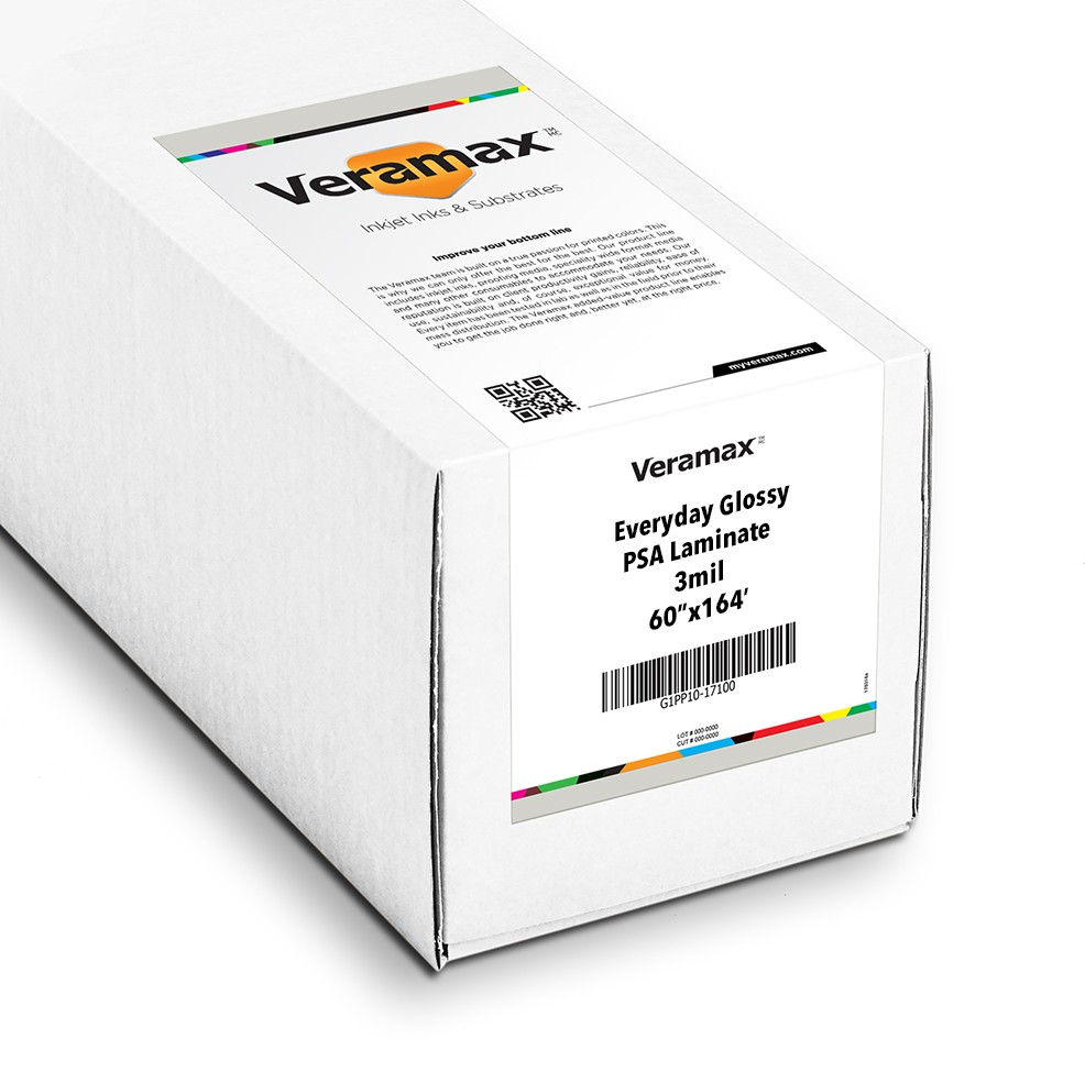 Veramax Everyday Glossy Laminating Film 3mil 60in x 164ft