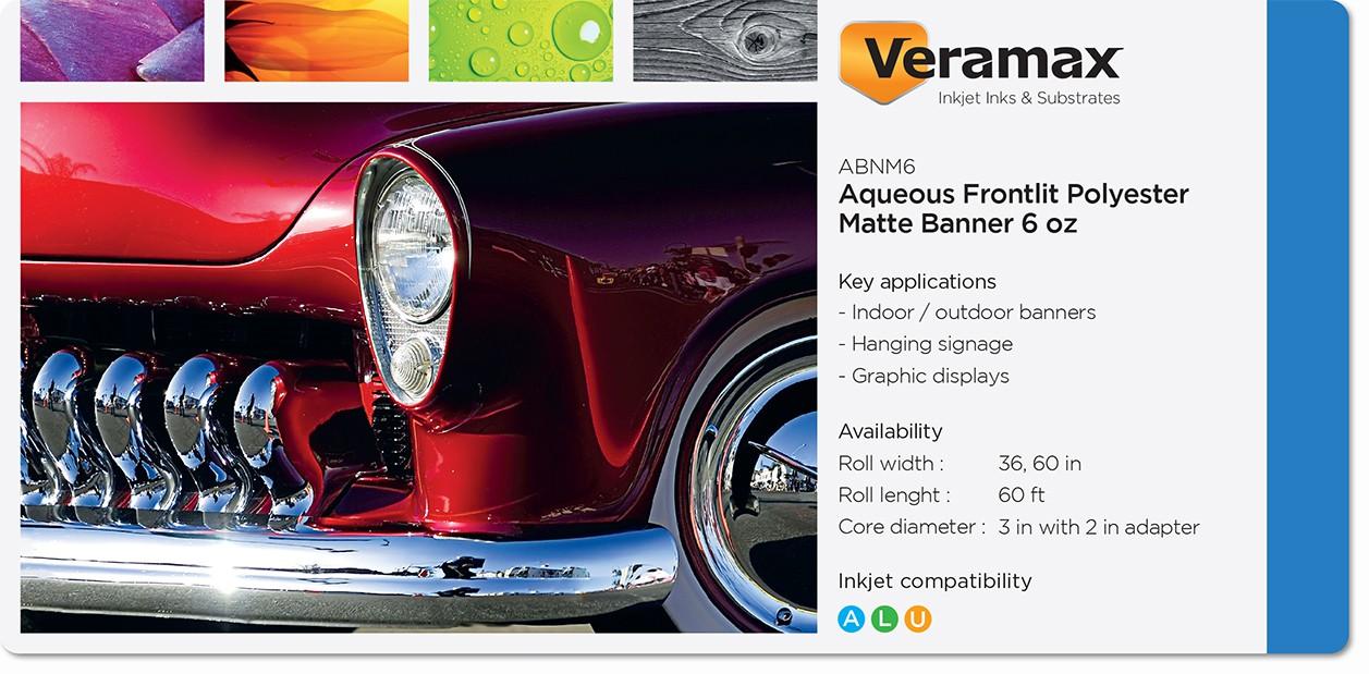 Veramax Aqueous Polyester Matte Banner 6oz