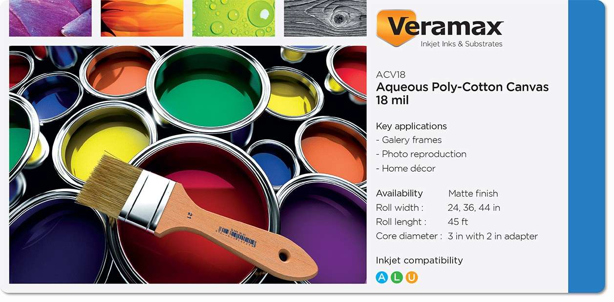 Veramax Aqueous Canvas Poly-Cotton 18mil