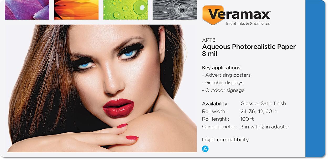 Veramax Aqueous Photorealistic Paper 8mil