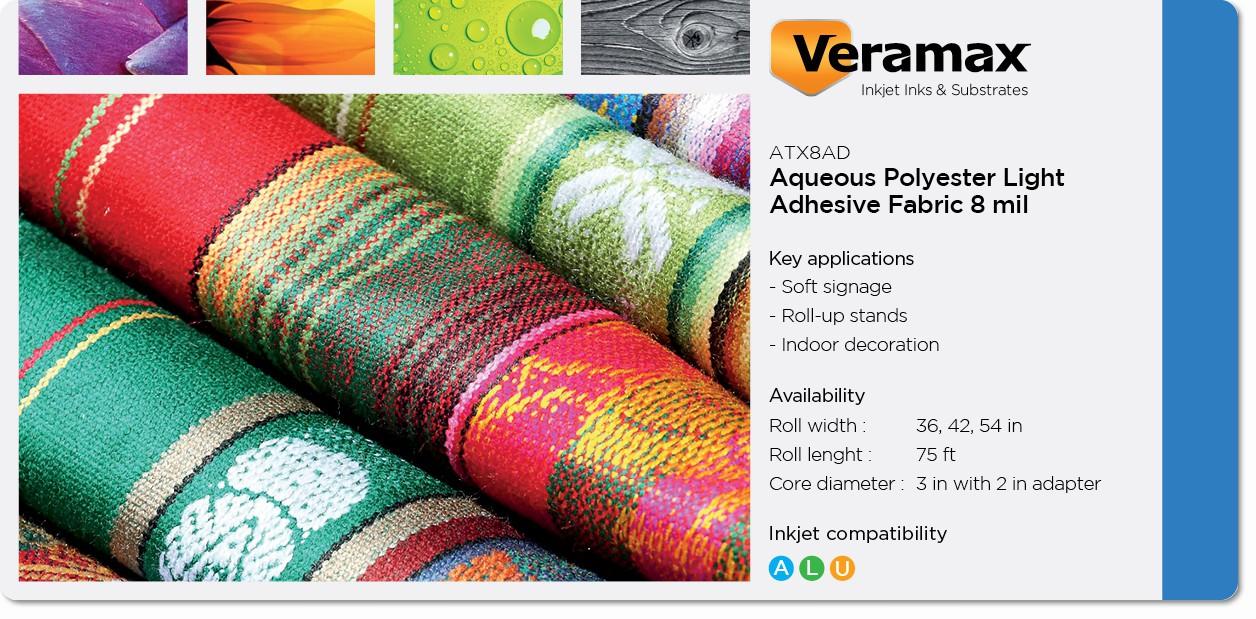 Veramax Aqueous Polyester Light Fabric Adh 8mil