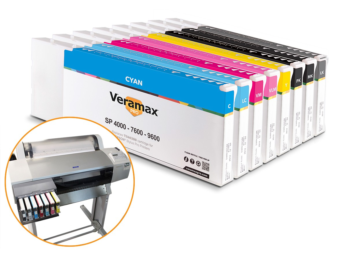 Veramax PRO Ink Cartridges for Stylus Pro 7600-9600 Printers