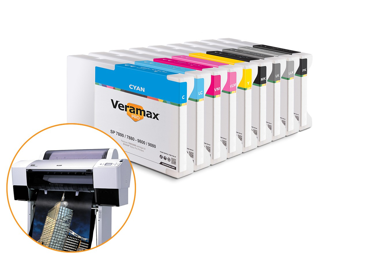 Veramax PRO Ink Cartridges for Stylus Pro 7880-9880 Printers