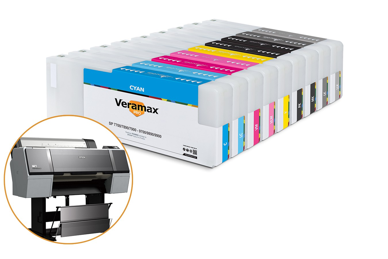 Veramax PRO Ink Cartridges for Stylus Pro 7890-9890 Printers