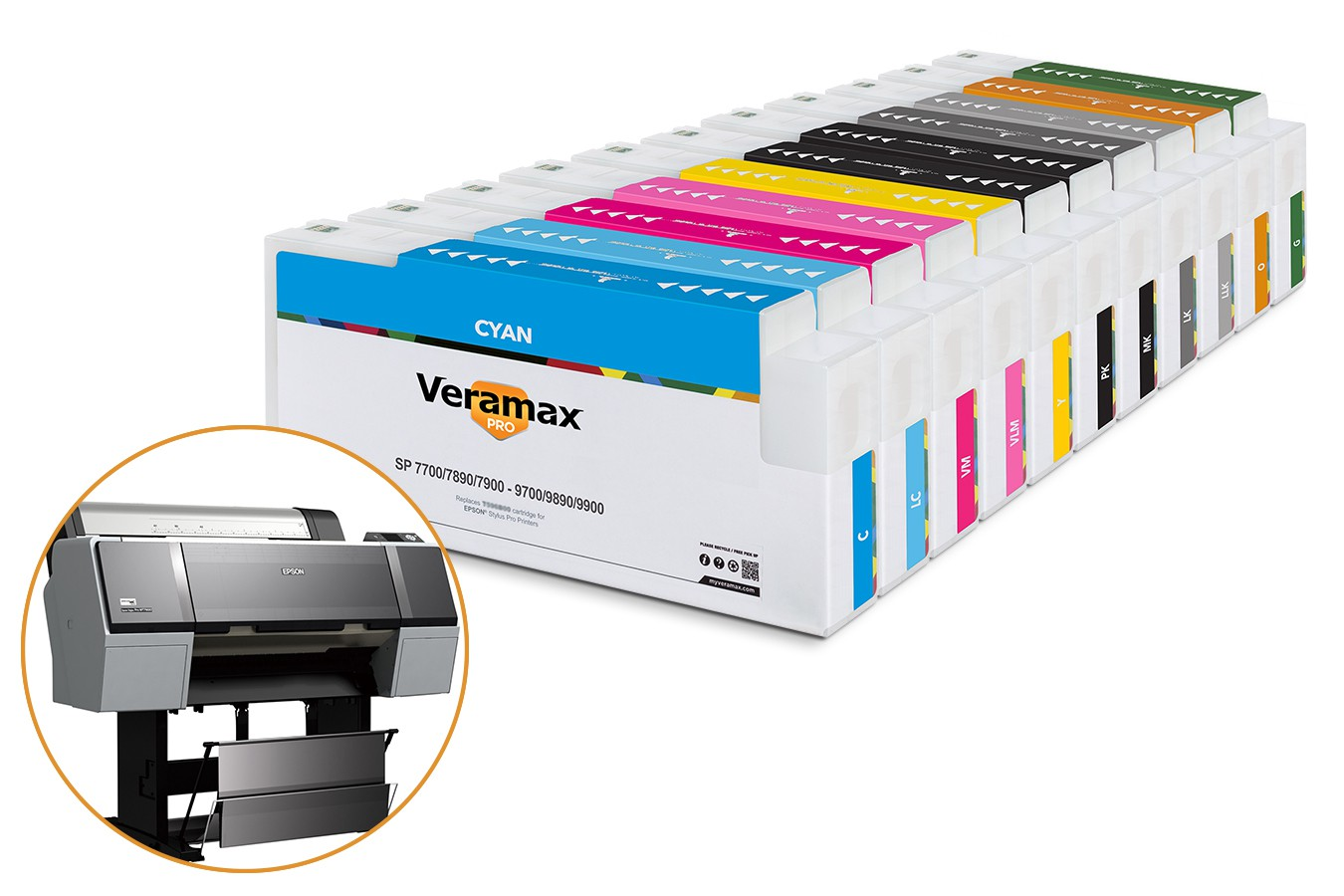 Veramax PRO Ink Cartridges for Stylus Pro 7900-9900 Printers