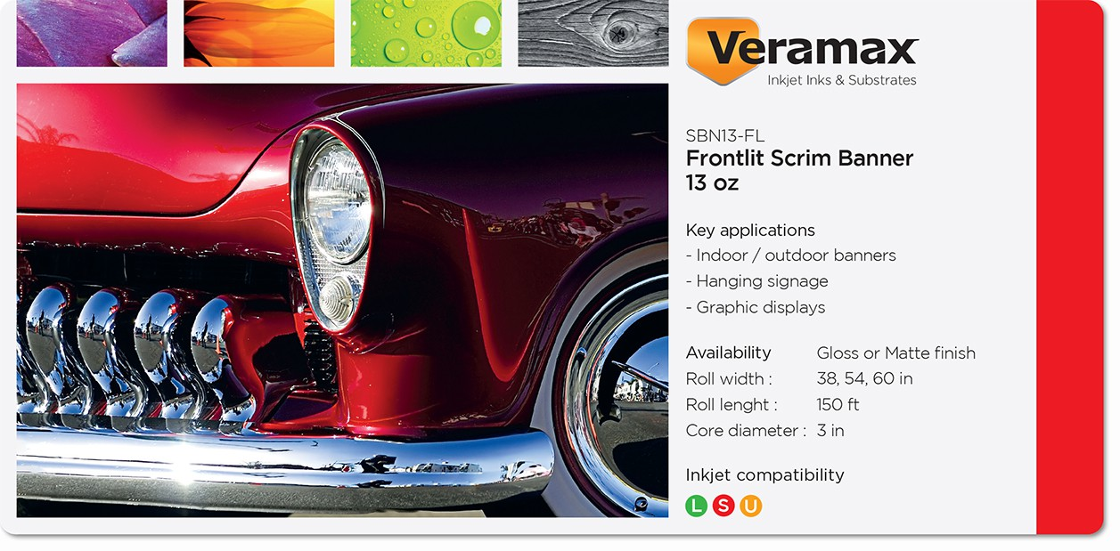 Veramax PVC Frontlit Scrim Banner 13oz