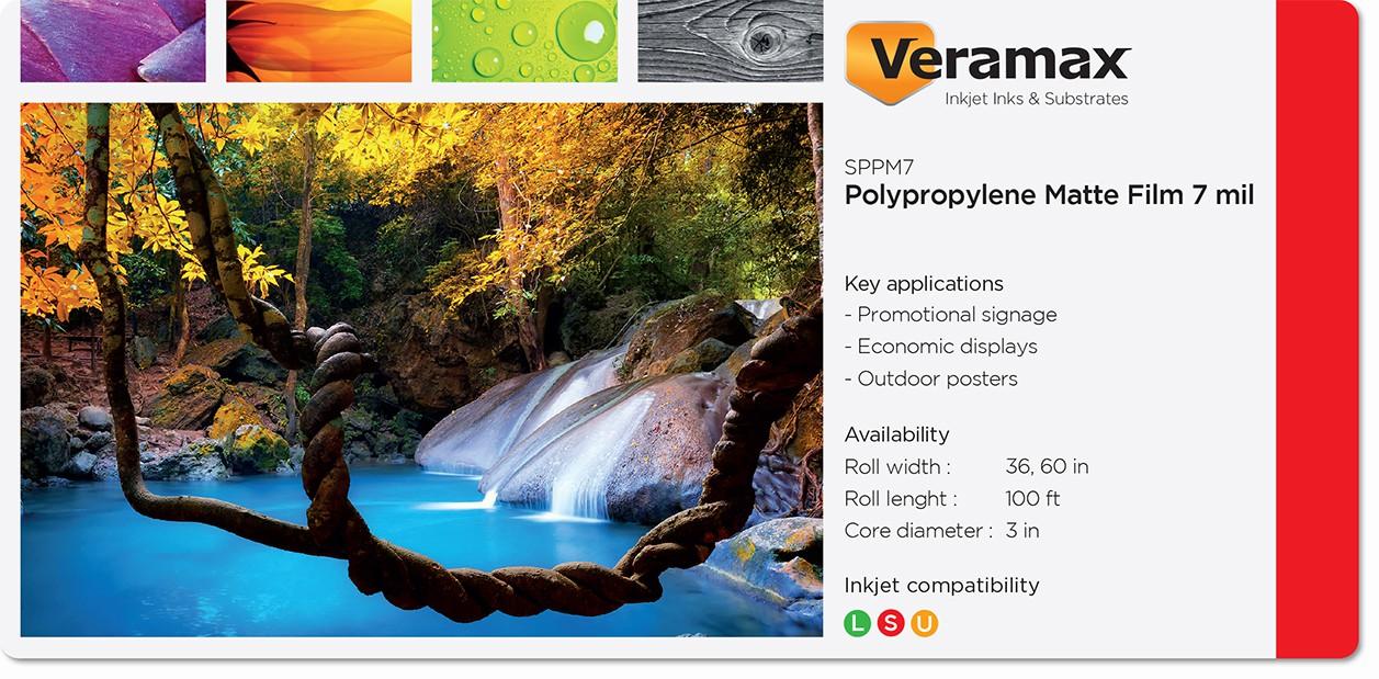 Veramax Polypropylene Matte Film 7mil