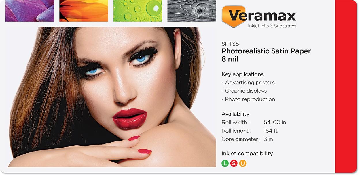 Veramax Photorealistic Satin Poster Paper 8mil
