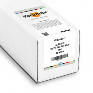Veramax Aqueous Backlit Matte Film 8mil 36in x 100ft
