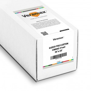 Veramax Canvas Glossy Poly-Cotton 21mil 36in x 65ft