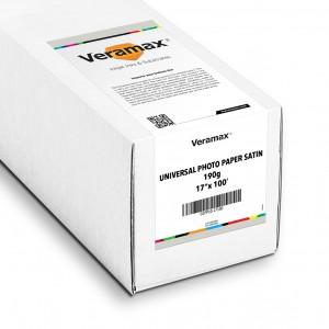 Veramax Universal Photo Paper Satin 190g 17in x 100ft