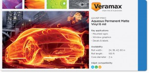 Veramax Aqueous Vinyl Matte Permanent Adh 6mil