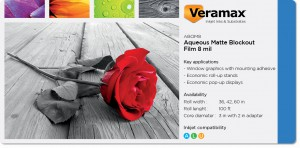 Veramax Aqueous Blockout Matte Film 8mil