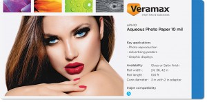Veramax Aqueous Photo Paper 10mil