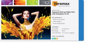 Veramax Aqueous Rollup Film Greyback 12mil