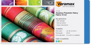 Veramax Aqueous Polyester Heavy Fabric 13mil