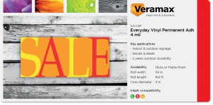 Veramax Everyday Vinyl Permanent Adh 4mil