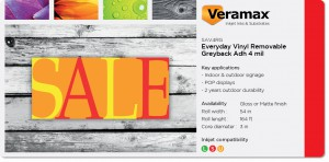 Veramax Everyday Vinyl Removable Grey Adh 4mil