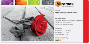 Veramax Blockout Satin Film 11mil