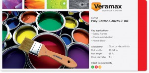 Veramax Canvas Poly-Cotton 21mil