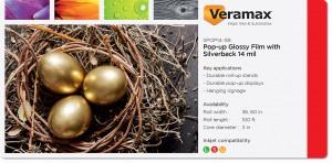 Veramax Popup Film Silverback 14mil
