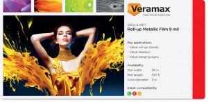 Veramax Rollup Metallic Film 9mil