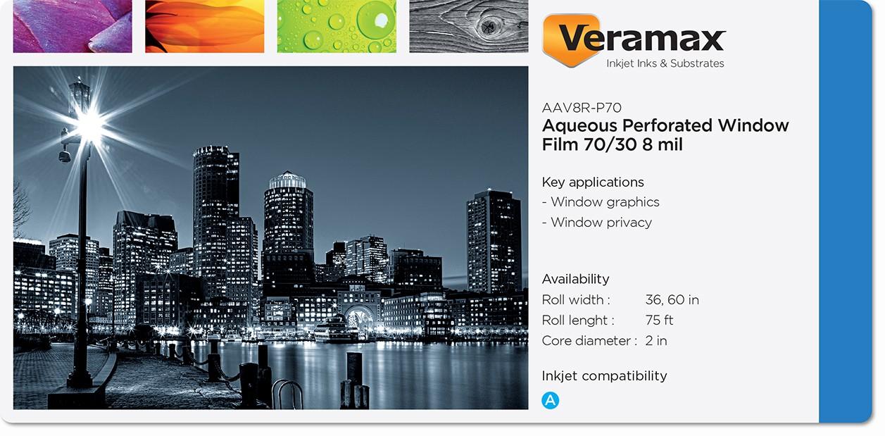 Veramax Aqueous Vinyl Perforated 70-30 Film