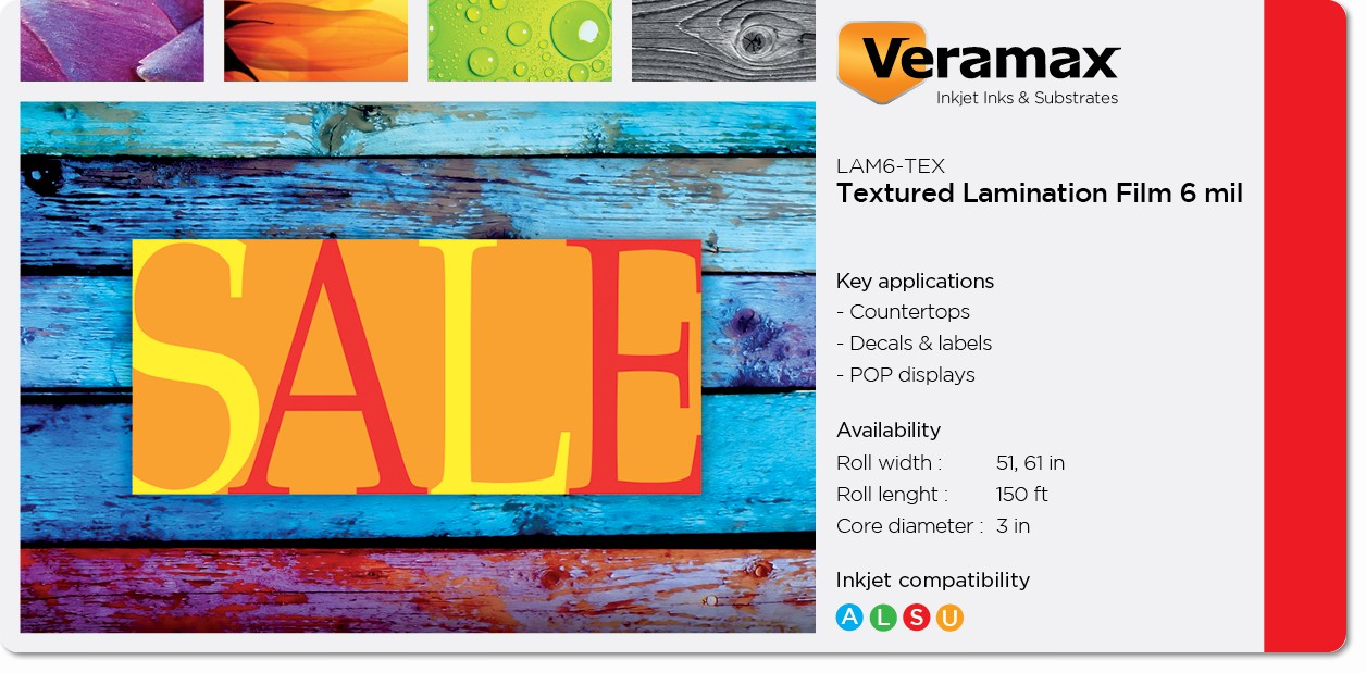 Veramax Textured Laminating Film 6mil