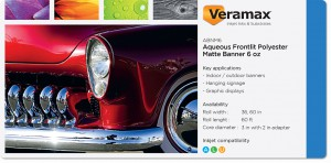 Veramax Aqueous Polyester Matte Banner 6oz