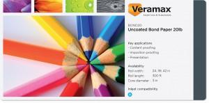 Veramax Uncoated Bond Paper 20lb