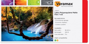 Veramax Polypropylene Matte LX Film 7mil