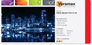 Veramax Backlit Matte Film 8mil