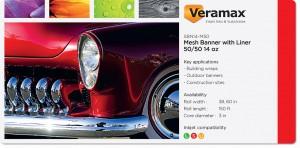 Veramax PVC Mesh Banner with liner 50-50 14oz