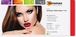 Veramax Synthetic Matte Paper 7mil